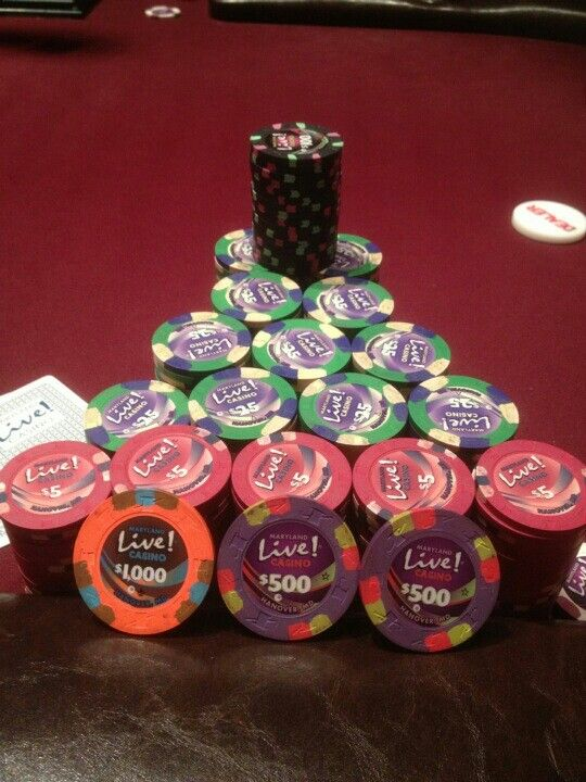 Poker Chip Stack At Md Live Poker Room By J B Poker