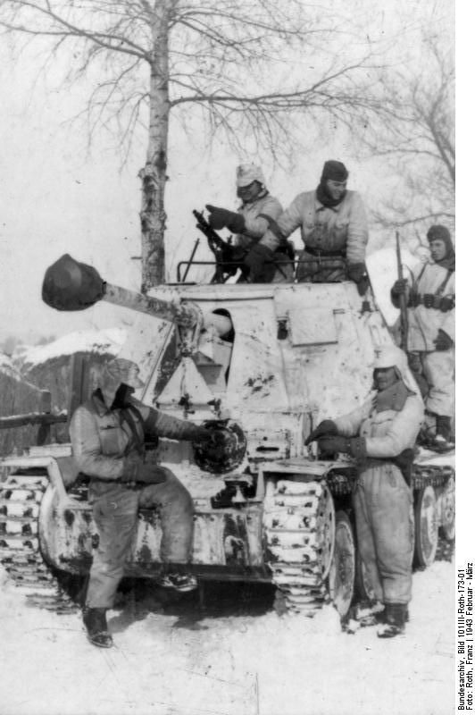 Marder III tank destroyer of German Leibstandarte-SS Adolf Hitler at Kharkov, Ukraine, Feb-Mar 1943