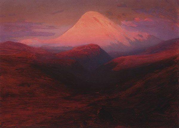 Elbrus in the Evening 1898 1908 | Arkhip Kuinji | oil painting #russianpaintings