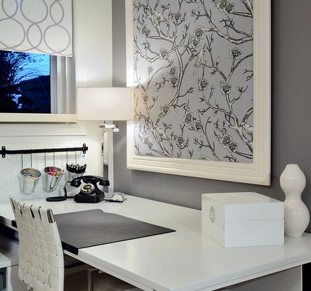 20 Beautiful Home Offices Fabric Bulletin Board