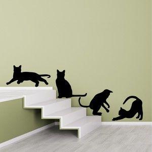 Naklejka ścienna Cats Silhouettes