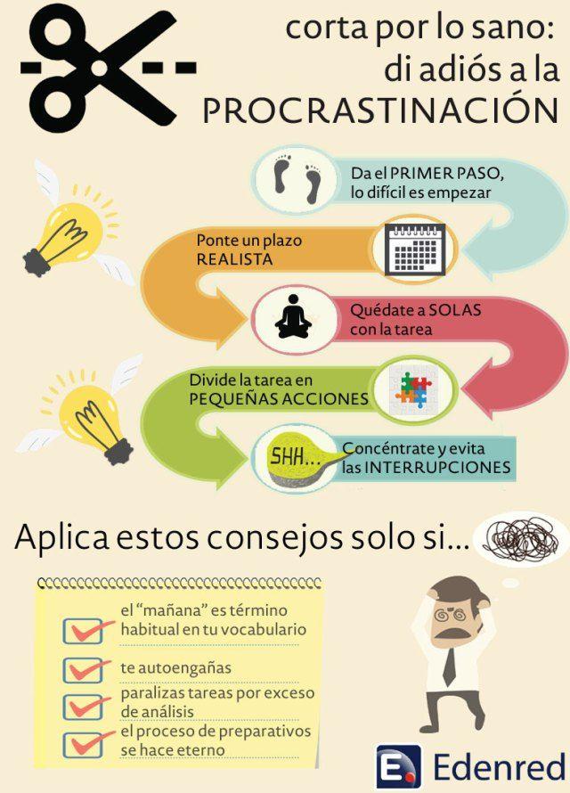 Di adiós a la procrastinación #infografia #infographic #productividad