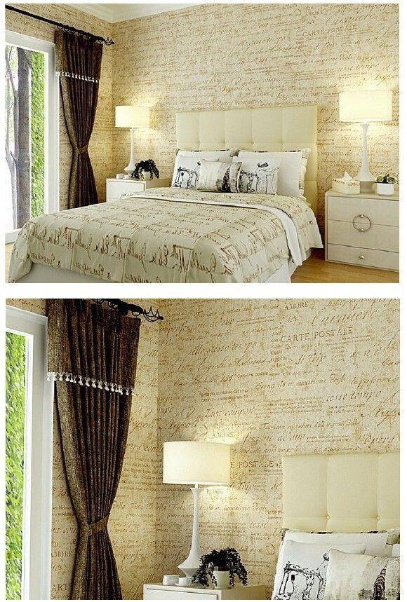 vintage não tecido clássico letras inglês rolo de papel de parede para sala quarto tv cenário r230 sala de estudo em Papéis de parede de Melhorias na casa no AliExpress.com | Alibaba Group