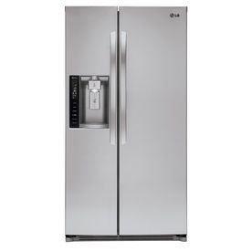 One day- we need a fridge with cold water in the door!! 26.16-cu ft Side-By-Side Refrigerator with Single Ice Maker (Stainless Steel) #Lowes