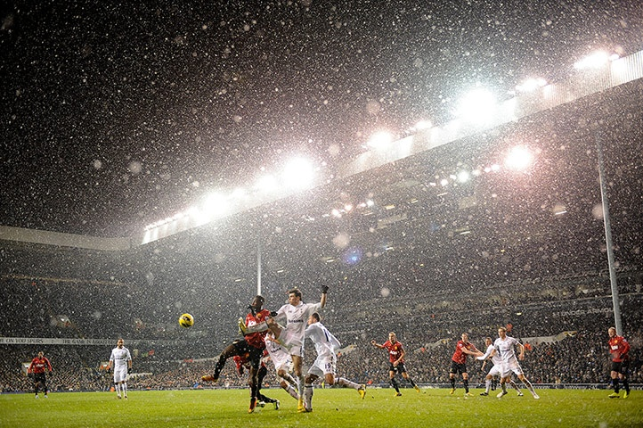 White Hart Lane is getting a proper coating of snow