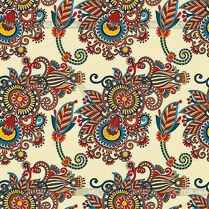 Бесшовных цветок Пейсли дизайн - рисунок в векторе