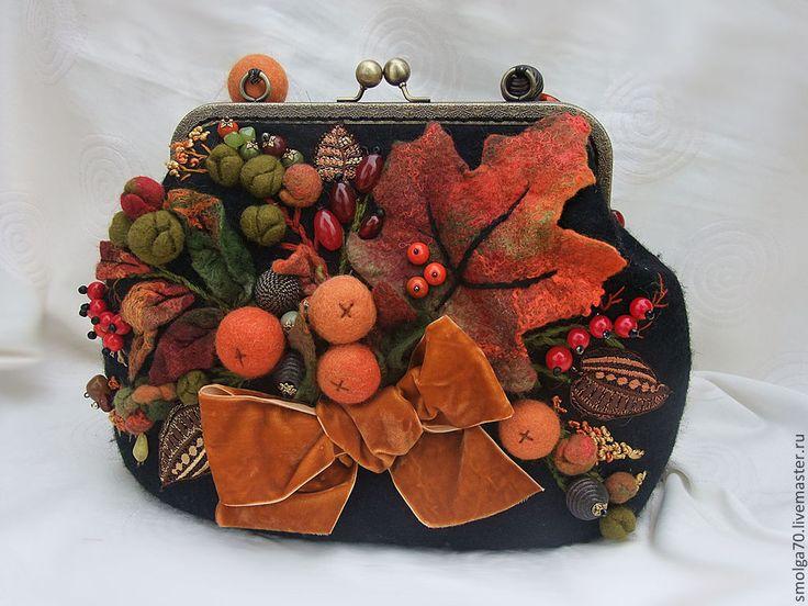 """Купить сумочка """"Сладкий Ноябрь"""" - рыжий, осень 2012, осенние листья, осенние краски"""
