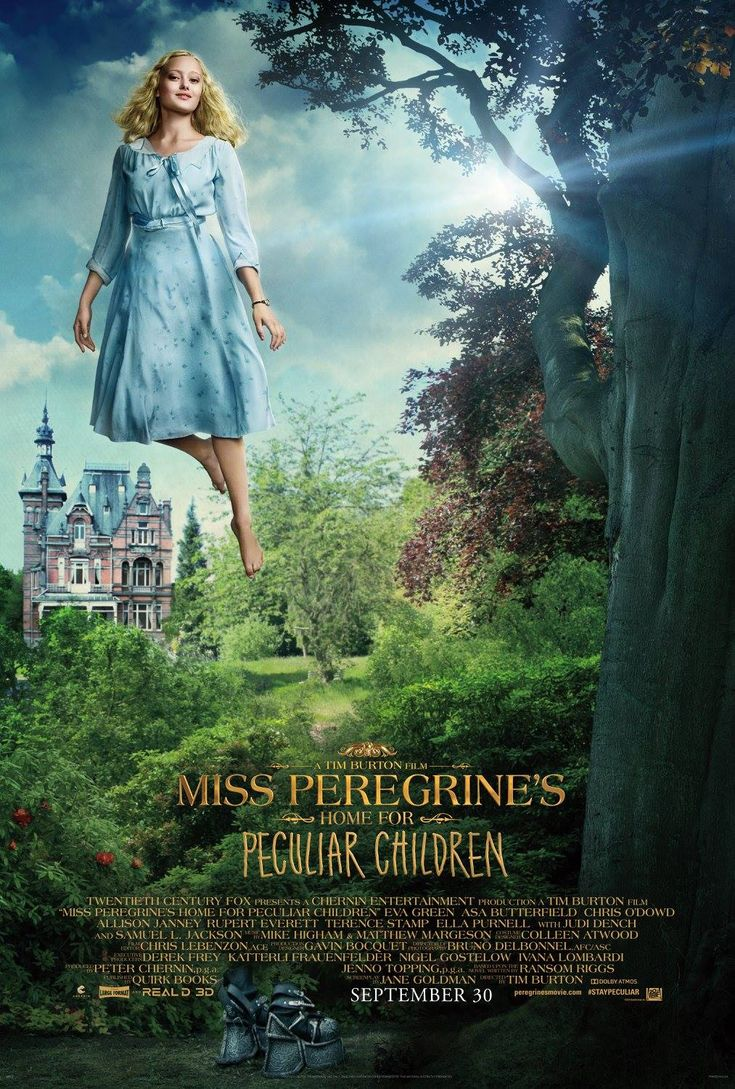 Miss Peregrine's Home for Peculiar Children is an english fantasy, adventure film. This film directed by Tim Burton, Produced by Peter Chernin Jenno Topping and written by Jane Goldman. The film stars are Eva Green, Asa Butterfield, Samuel L. Jackson, Ella Purnell, Chris O'Dowd, Allison Janney, Terence Stamp, Kim Dickens, Rupert Everett, Judi Dench and many other actors.>> https://www.facebook.com/missperegrineshomeforpeculiarchildrenhdfilm/