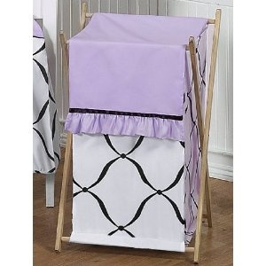 Baby/Kids Clothes Laundry Hamper For Sweet Jojo Designs For Purple, Black  And White