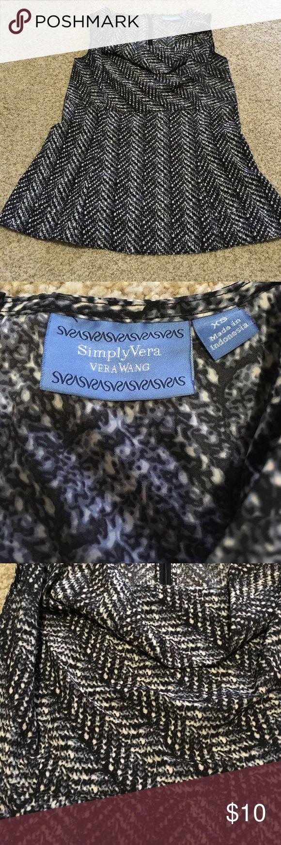 Simply Vera Wang sleeveless top Black gray and white sleeveless top by Vera Wang Simply Vera Vera Wang Tops