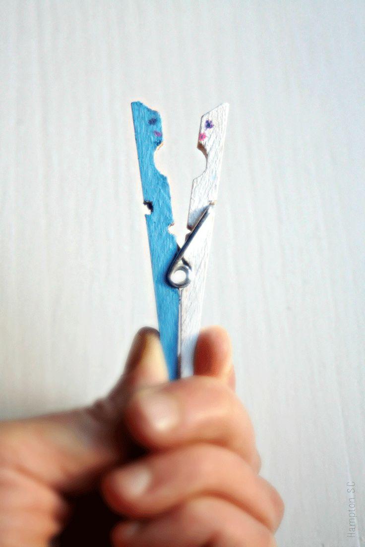 Great ideas to make with clothes tweezers DIY Ideas geniales para hacer con pinzas de la ropa