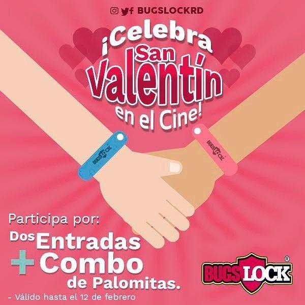 Celebra #SanValentin en el cine!!. . Participa con #BugsLock por 2 entradas al cine  1 combo de palomitas para este 14 de febrero. . Bases del concurso: 1) Síguenos. 2) Dale LIKE a esta imagen. 3) Menciona a 3 amigos. . Y listo! ya estarás participando. Anunciaremos al ganador el 13 de febrero. . #SanValentin #BugsLock #Amor #SantoDomingo #RepublicaDominicana #Repelente #Citronela #Ambiente #Kids #Niños #Familia