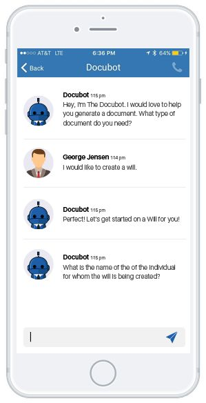 Docubot – Aux.ai – Artificial Intelligence for Legal Websites