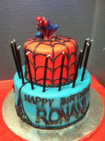 Instructables How Make Spiderman Cake