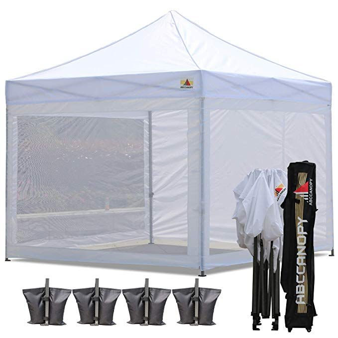 Amazon Com Abccanopy 10x10 Pop Up Canopy Tent Commercial Tents With White Mesh Walls Camping Screen Mesh House B Pop Up Canopy Tent Canopy Tent Mesh Screen