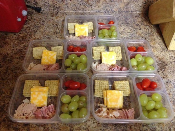 I made my own lunchables using low fat triscuits, 2% cheese, low sodium/low fat lunch meat along with grapes and tomatoes.  Really healthy and $12 for the whole week!