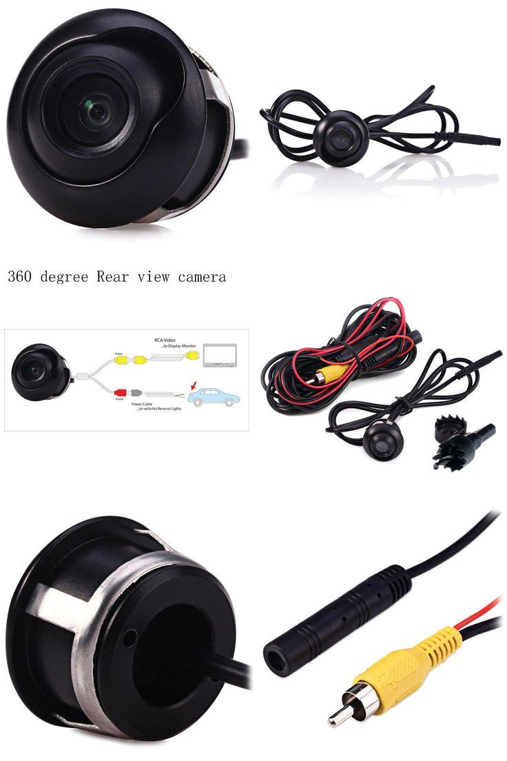 [Visit to Buy] Universal Auto CCD HD Night Vision Mini Car 360 degree Rear View Camera Waterproof Reversing Backup Camera for Parking Monitor #Advertisement