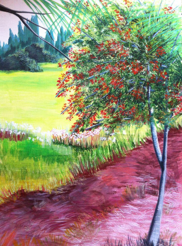 Peinture paysage nature @Lumeline-BLL A la recherche du silence... : Peintures par lumeline-bll