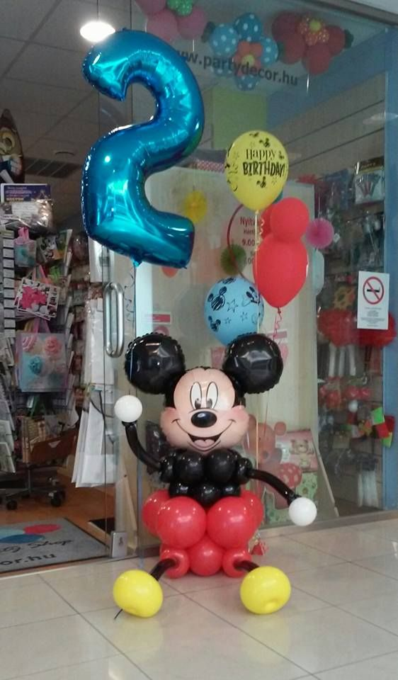 Mickey egér lufi design második születésnapra.  #második #szülinap #mickeymouse #qualatex #balloon #birthday