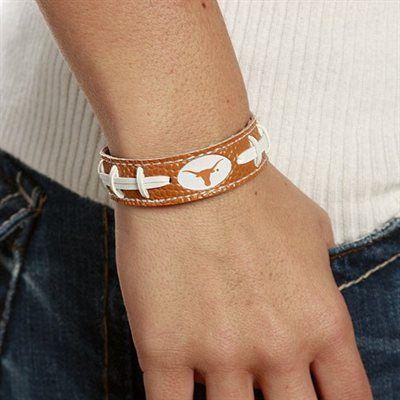 Texas Longhorns Brown Football Bracelet