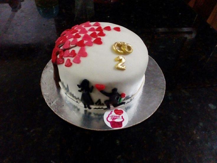 #minicake #love #fondant #cake #aniversary