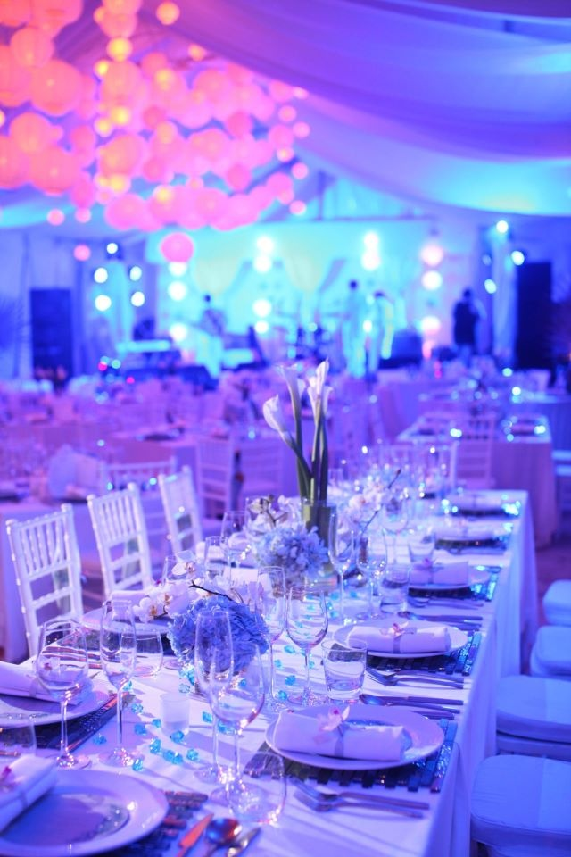 black white purple wedding reception%0A Our New Year u    s Eve Beach Party featured all your favourite foods from  around the world  with live cooking stations on the beach  together with  other
