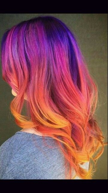Sunset hair!