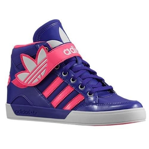 adidas Originals Hard Court Hi Strap - Girls' Preschool - Black/Blast Pink/Running  White