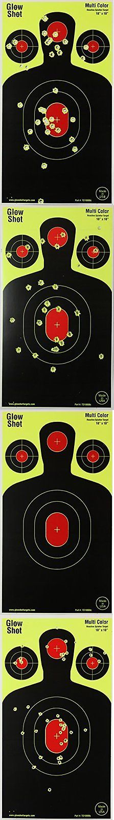 Other Airsoft Guns 31687: Silhouette Reactive Targets For Gun Rifle Airsoft And Bb Guns 100-Pack BUY IT NOW ONLY: $48.95