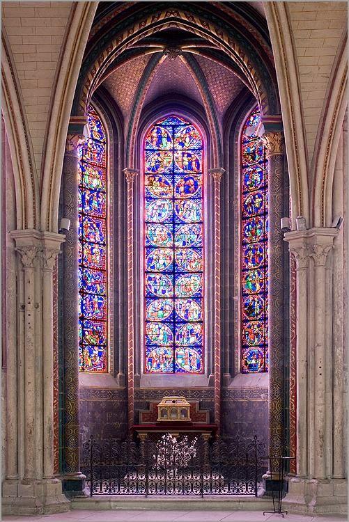 chapelle rayonnante, cathédrale, Bourges, Centre