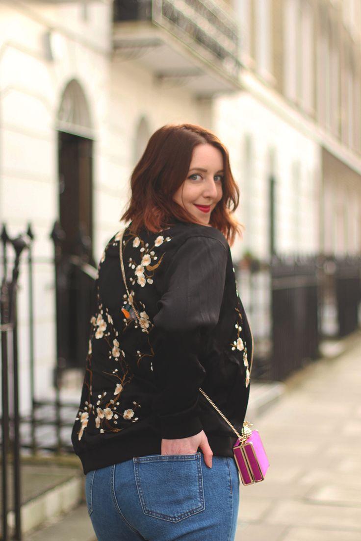 Zara embroidered bomber jacket, Bumpkin Betty
