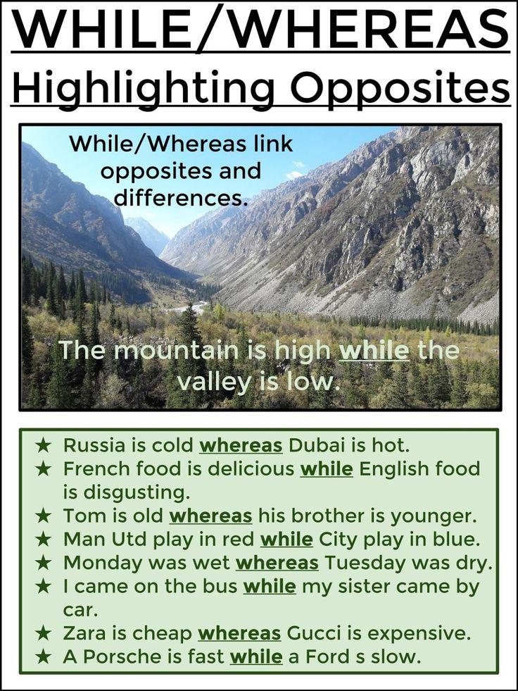 WHILE / WHEREAS - Highlighting Opposites
