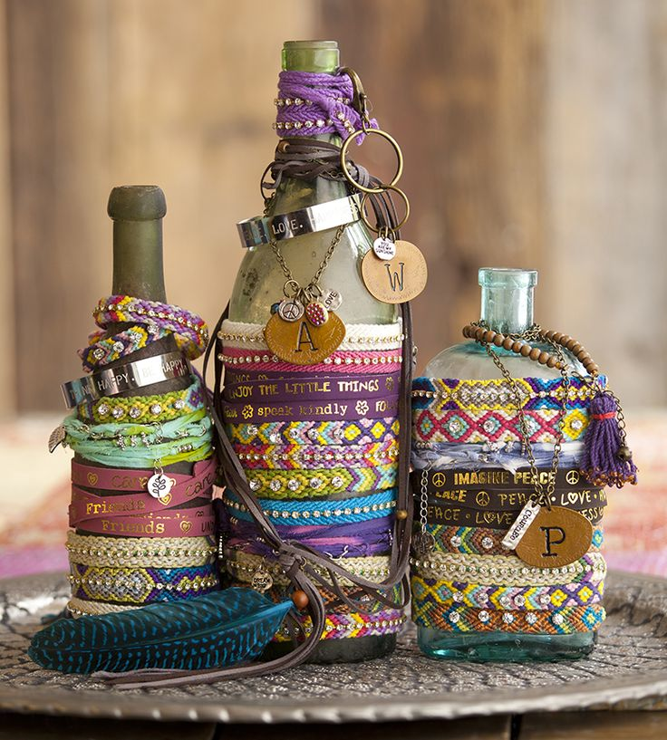 Use antique bottles to stack your Natural Life jewelry!