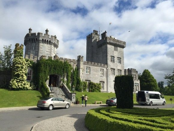 The cul de sac in front of Dromoland Castle, Ireland