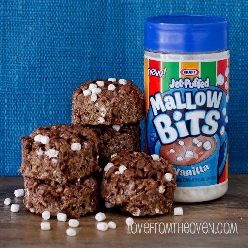 Triple Chocolate Rice Krispies Treats.  Love chocolate and Rice Krispies Treats?  Then these are a must make.