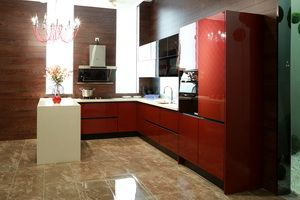 red acrylic cabinet