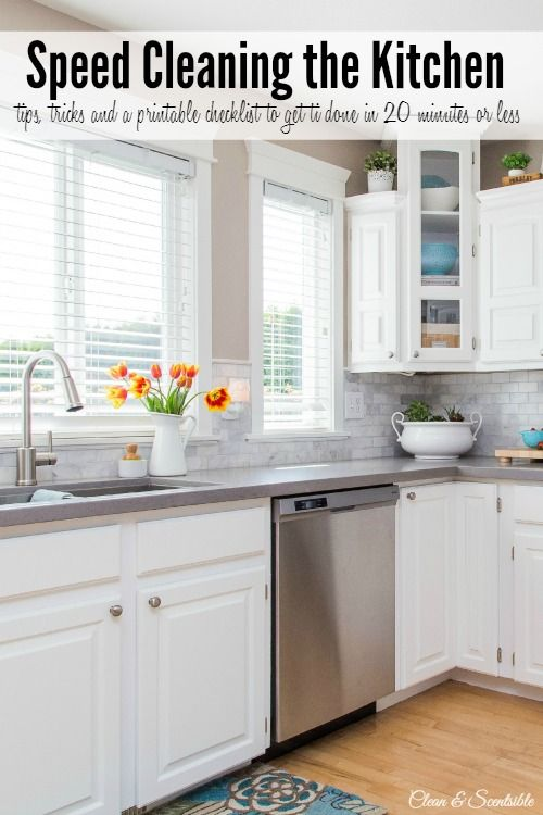 How to speed clean the kitchen countertops i am and for How to clean kitchen countertops