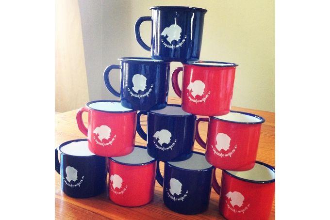 Red and Navy Stoutgatte Mugs by tjou-tjou