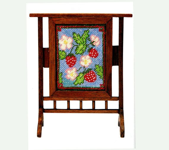 PDF Dolls House Miniature 12th Scale Victorian 'William Morris' Firescreen & Floral Tapestry Craft Pattern...Look