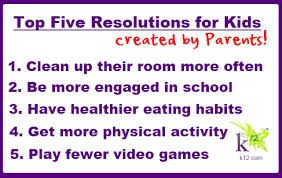 new year resolution for kids - Google Search