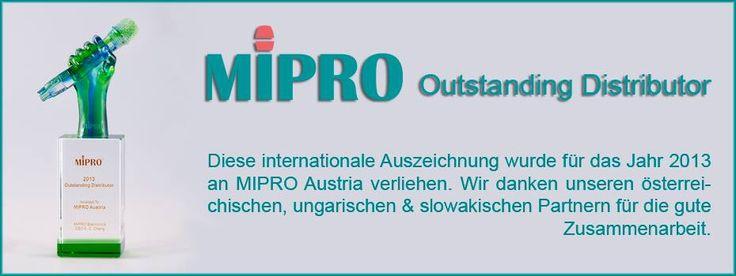 Outstanding Distributor 2014 Award - MIPRO Austria