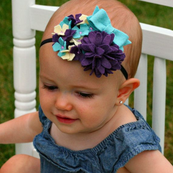 Felt Fascinator Headband / Felt Flower Headband / Bow by PerkyPosy