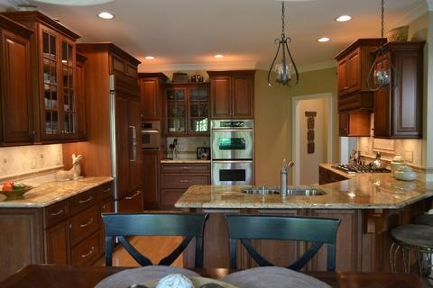 color scheme we are considering sand countertop mid browns for cabinets kitchen ideas. Black Bedroom Furniture Sets. Home Design Ideas