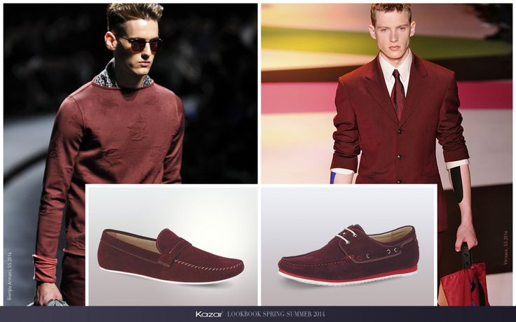 #kazar #trendy #new #look #summer #sprig #wiosna #lato #moda #fashion #styl #buty #shoes #man #bordo