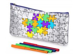 Funbox Activities Colour In Puzzle Pencil Case. A bit of a puzzler this one (excuse the pun) but the kids will love it! #funboxactivities  #puzzles  #amazing #puzzling #puzzled @funboxactivities #kids #colouringin #kidsactivities #pencilcase
