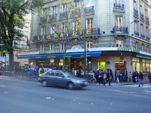 Gibert Joseph, a busy Latin Quarter bookstore on Boulevard Saint-Michel.