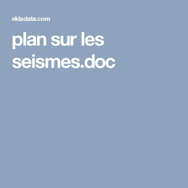 plan sur les seismes.doc
