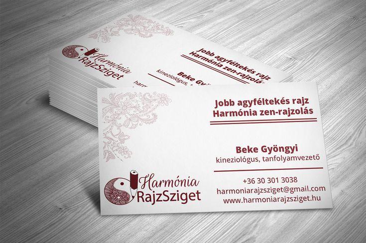 Harmónia RajzSziget névjegykártya