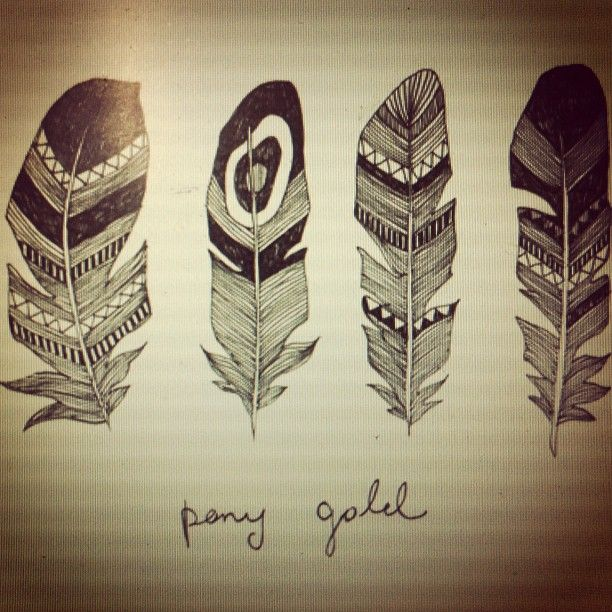feather designs: Tribal Feather, Tattoo Ideas, Feather Sketch, Feather Design, Feathers, Feather Tattoos, Awesome Feather, Drawing, Dream Catcher
