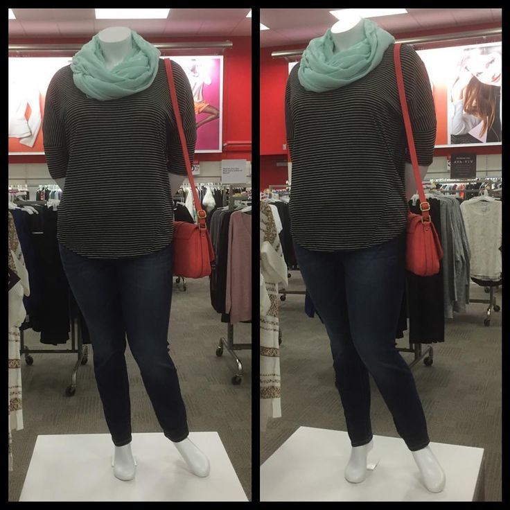 Ava & Viv at #target !! Cute #plussize clothing in both casual and dressy styles!! #targetstyle #targetrun #targethaul #scarf #purse #coral #turquoise #denim #skinnyjeans @target @targetstyle #vml #visualmerchandising #mannequins #accessories #accessorize